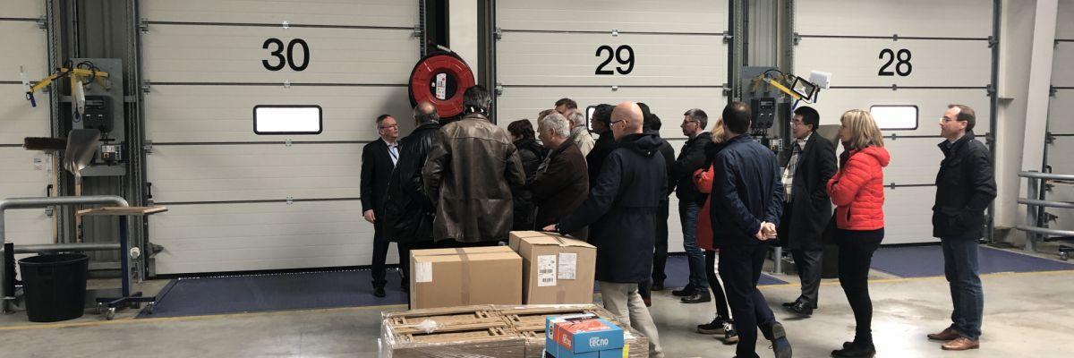Visite de la société DB Schenker à Chartres